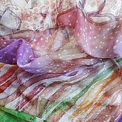 Аксессуары ручной работы. Ярмарка Мастеров - ручная работа Батик палантин «Нежность». Handmade.