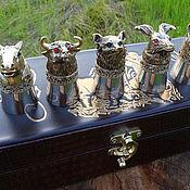 Рюмки ручной работы. Ярмарка Мастеров - ручная работа Подарочный набор рюмок-перевертышей. Handmade.