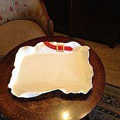 "Посуда ручной работы. Ярмарка Мастеров - ручная работа Фаянс. Поднос ""Марлёвка"". Handmade."
