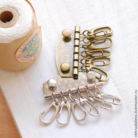 Шитье ручной работы. Ярмарка Мастеров - ручная работа. Купить Заготовка для ключницы с 6 карабинами, 2 цвета. Handmade.