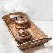 Для дома и интерьера handmade. Livemaster - original item A set of barrels on an oak tray. Handmade.