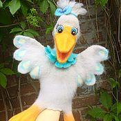 Куклы и игрушки ручной работы. Ярмарка Мастеров - ручная работа Птица на руку. Handmade.
