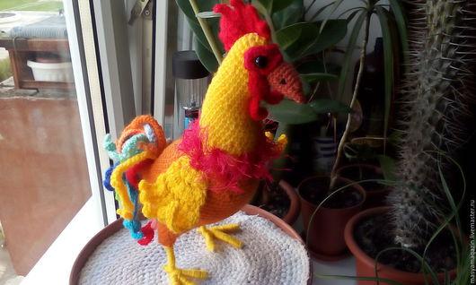 Новый год 2017 ручной работы. Ярмарка Мастеров - ручная работа. Купить Петя -петушок. Handmade. Комбинированный, пасхальный сувенир