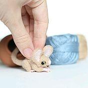 Куклы и игрушки ручной работы. Ярмарка Мастеров - ручная работа Мини шуршалкин тушканчик мышь. Handmade.