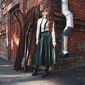 Одежда ручной работы. Ярмарка Мастеров - ручная работа Юбка миди из экокожи. Handmade.