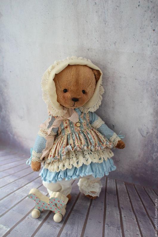 Мишки Тедди ручной работы. Ярмарка Мастеров - ручная работа. Купить Нюся. Handmade. Коричневый, мишка девочка, teddy bear