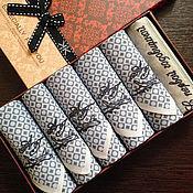 Аксессуары handmade. Livemaster - original item Set handkerchiefs men`s vyshivki Monogram. Handmade.