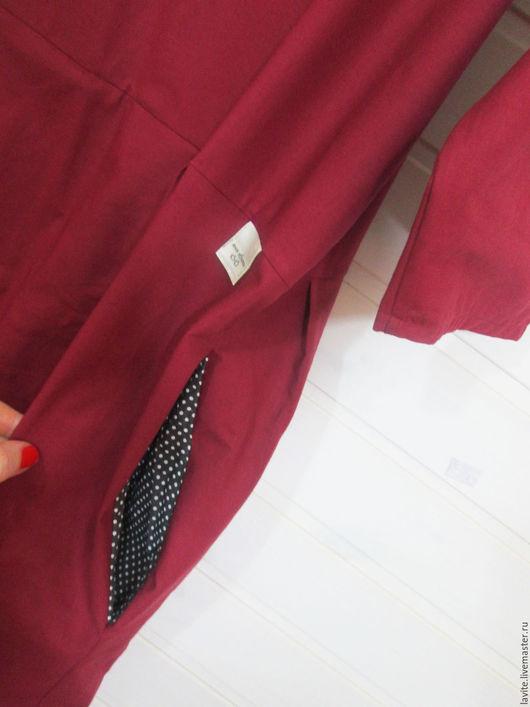 Платья ручной работы. Ярмарка Мастеров - ручная работа. Купить бордовое/хлопок. Handmade. Бордовый, Платье нарядное, платье в пол