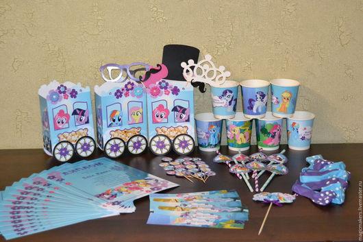 Праздничная атрибутика ручной работы. Ярмарка Мастеров - ручная работа. Купить Праздник в стиле My Little Pony (Моя маленькая пони). Handmade.