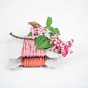 """Материалы для творчества ручной работы. Ярмарка Мастеров - ручная работа Хлопковый витой шнур """"Яблочная пудра"""" 2 мм, 2 цвета. Handmade."""