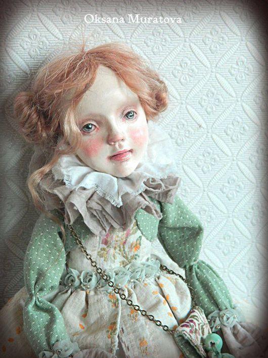 Коллекционные куклы ручной работы. Ярмарка Мастеров - ручная работа. Купить Кукла Паолина. Handmade. Бежевый, кукла авторская