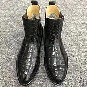 Обувь ручной работы handmade. Livemaster - original item Chelsea genuine crocodile leather with fur, handmade!. Handmade.