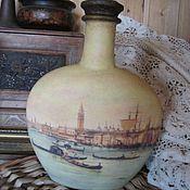 """Посуда ручной работы. Ярмарка Мастеров - ручная работа Бутылка """"Венеция 2"""". Handmade."""