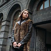 Одежда ручной работы. Ярмарка Мастеров - ручная работа Пальто из кролика и кожи.. Handmade.
