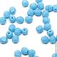 Для украшений ручной работы. Ярмарка Мастеров - ручная работа. Купить 50шт 4мм Чешские граненые бусины голубая бирюза Fire polished beads. Handmade.