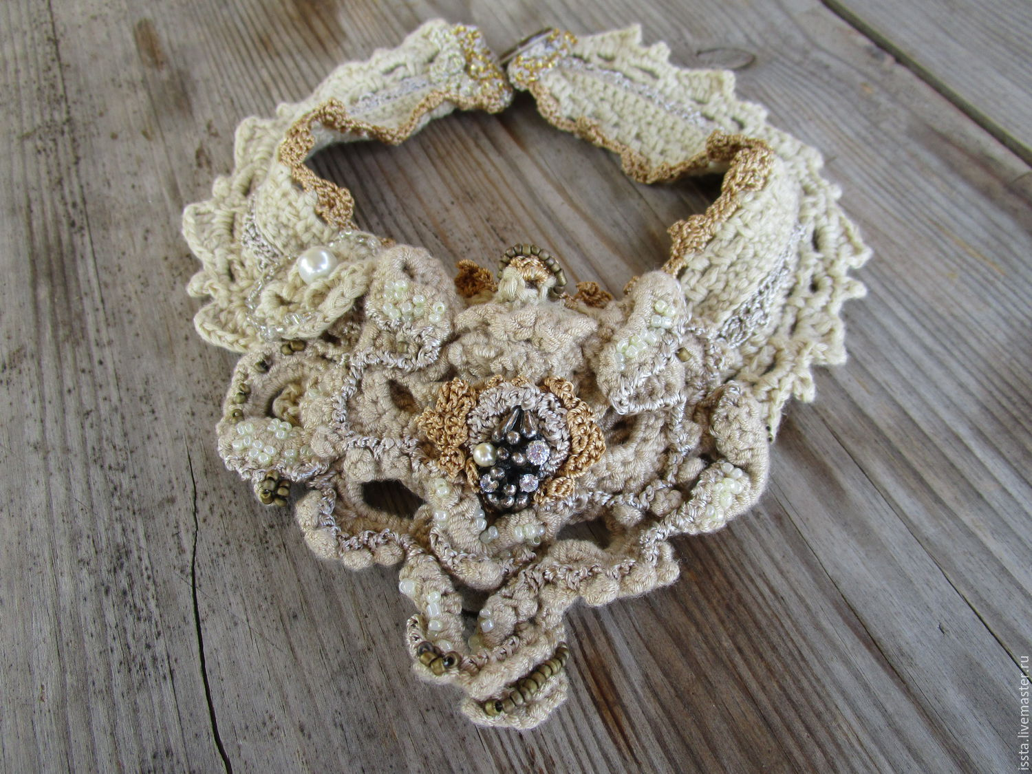 Knitted necklace 'Perseus', Necklace, Kaluga,  Фото №1