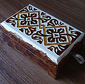 Для дома и интерьера handmade. Livemaster - original item Jewelry box with hand-painted number №3. Handmade.