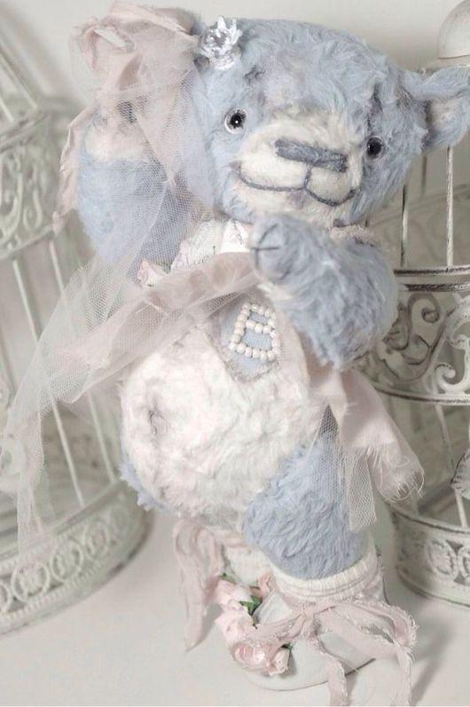 Мишки Тедди ручной работы. Ярмарка Мастеров - ручная работа. Купить мишка тедди Blueberry. Handmade. Голубой мишка