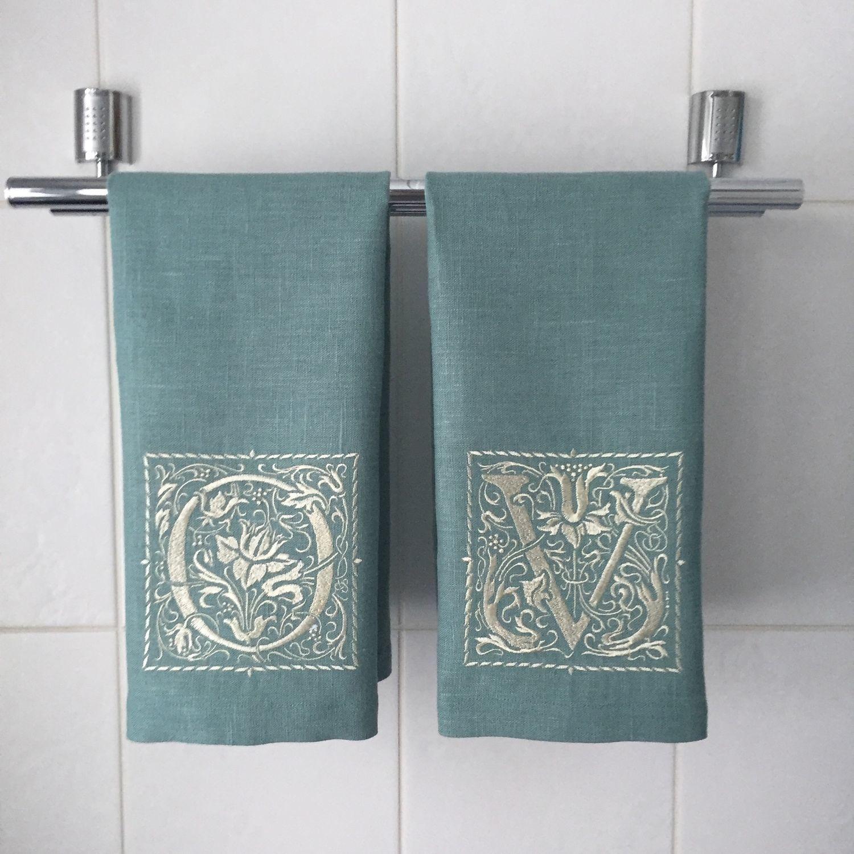 """Текстиль, ковры ручной работы. Ярмарка Мастеров - ручная работа. Купить Чайное полотенце с вышивкой """"William Morris"""". Handmade."""