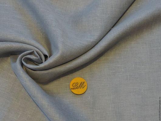 Шитье ручной работы. Ярмарка Мастеров - ручная работа. Купить ткань лен сетка серо-голубая. Handmade. Лен