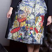 Одежда ручной работы. Ярмарка Мастеров - ручная работа Париж платье валяное, трикотажное. Handmade.