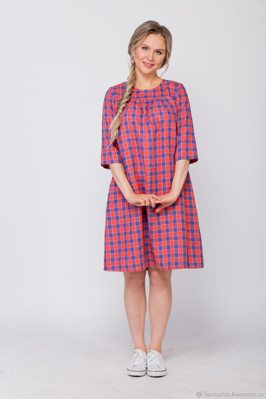 Linen plaid Dress, Dresses, Omsk,  Фото №1