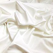Ткани ручной работы. Ярмарка Мастеров - ручная работа Сатин Люкс. Цвет молочный. Handmade.