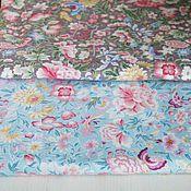 Материалы для творчества ручной работы. Ярмарка Мастеров - ручная работа Хлопковая ткань С цветами. Handmade.