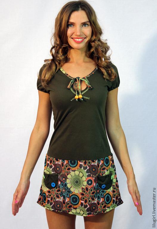 Платья ручной работы. Ярмарка Мастеров - ручная работа. Купить -53% SALE! Платье c бубенцами. Handmade. Повседневное платье