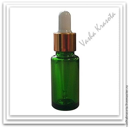 Упаковка ручной работы. Ярмарка Мастеров - ручная работа. Купить Флакон стеклянный с пипеткой 10 мл.(Зеленый). Handmade. Зеленый