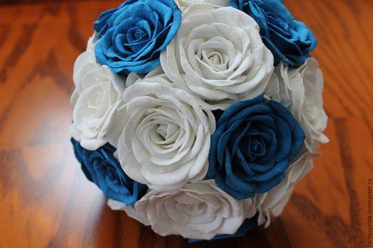 Свадебные цветы ручной работы. Ярмарка Мастеров - ручная работа. Купить букет дублер, букет невесты. Handmade. Синий