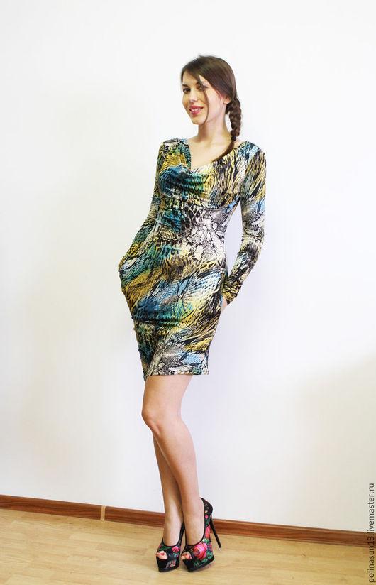 Платья ручной работы. Ярмарка Мастеров - ручная работа. Купить Платье Качели. Handmade. Тёмно-зелёный, короткое платье