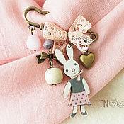 Украшения handmade. Livemaster - original item Brooch My Bunny (pink). Handmade.