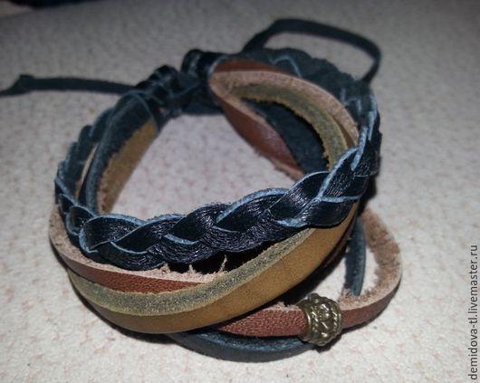 Браслеты ручной работы. Ярмарка Мастеров - ручная работа. Купить браслеты мужские кожаные. Handmade. Браслет, кожаный браслет, мужчинам