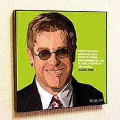 Подарки к праздникам handmade. Livemaster - original item Picture poster Elton John Pop Art. Handmade.