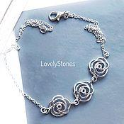 Украшения handmade. Livemaster - original item Rosa`s on a thin delicate chain and a beautiful delicate. Handmade.