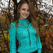 Одежда handmade. Livemaster - original item Stylish knitted blouse