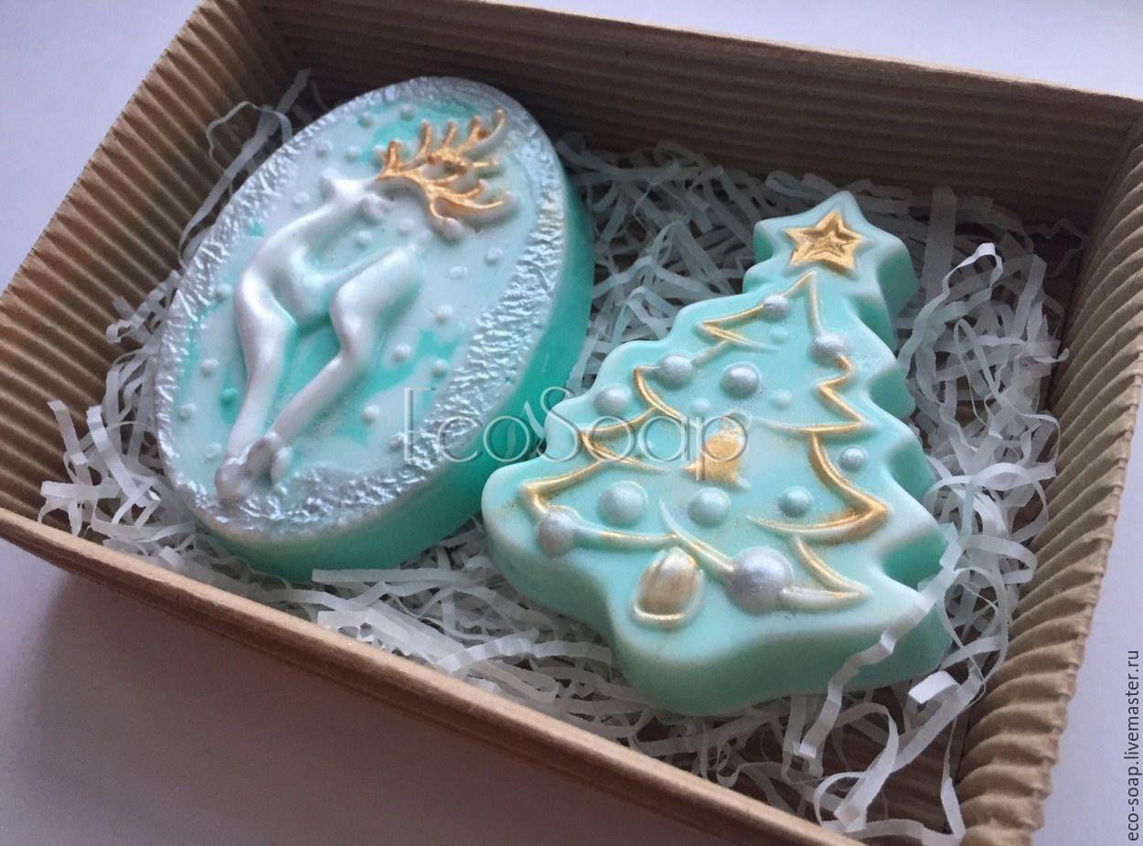 Новогоднее мыло. Набор `Серебряное копытце`. Handmade. Набор новогоднего мыла. Новогодний набор. Купить подарок на Новый Год. Подарок детям. Детям на Новый год.