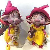 Куклы и игрушки ручной работы. Ярмарка Мастеров - ручная работа Карл и Элиза. Handmade.