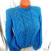 Одежда handmade. Livemaster - original item Women`s sweater with braids. Handmade.
