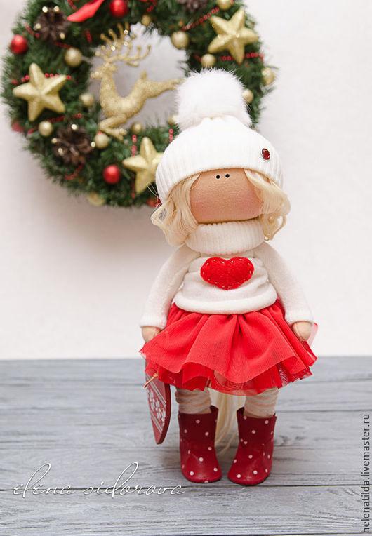Коллекционные куклы ручной работы. Ярмарка Мастеров - ручная работа. Купить Новогодняя малышка!. Handmade. Белый, подарок, кашемировый трикотаж