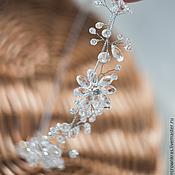 Диадема для невесты ручной работы. Ярмарка Мастеров - ручная работа Тиара кристальная для невесты (свадьба в стиле бохо). Handmade.