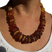 Украшения handmade. Livemaster - original item Copy of Beads amber healing Gifts of nature in natural stone amber. Handmade.
