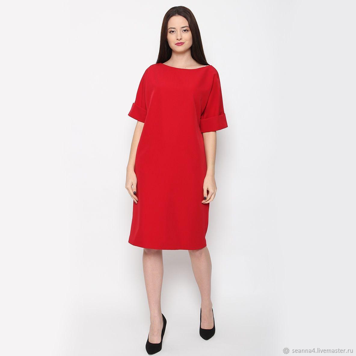 Платье-баллон ярко-красное, Платья, Воронеж,  Фото №1