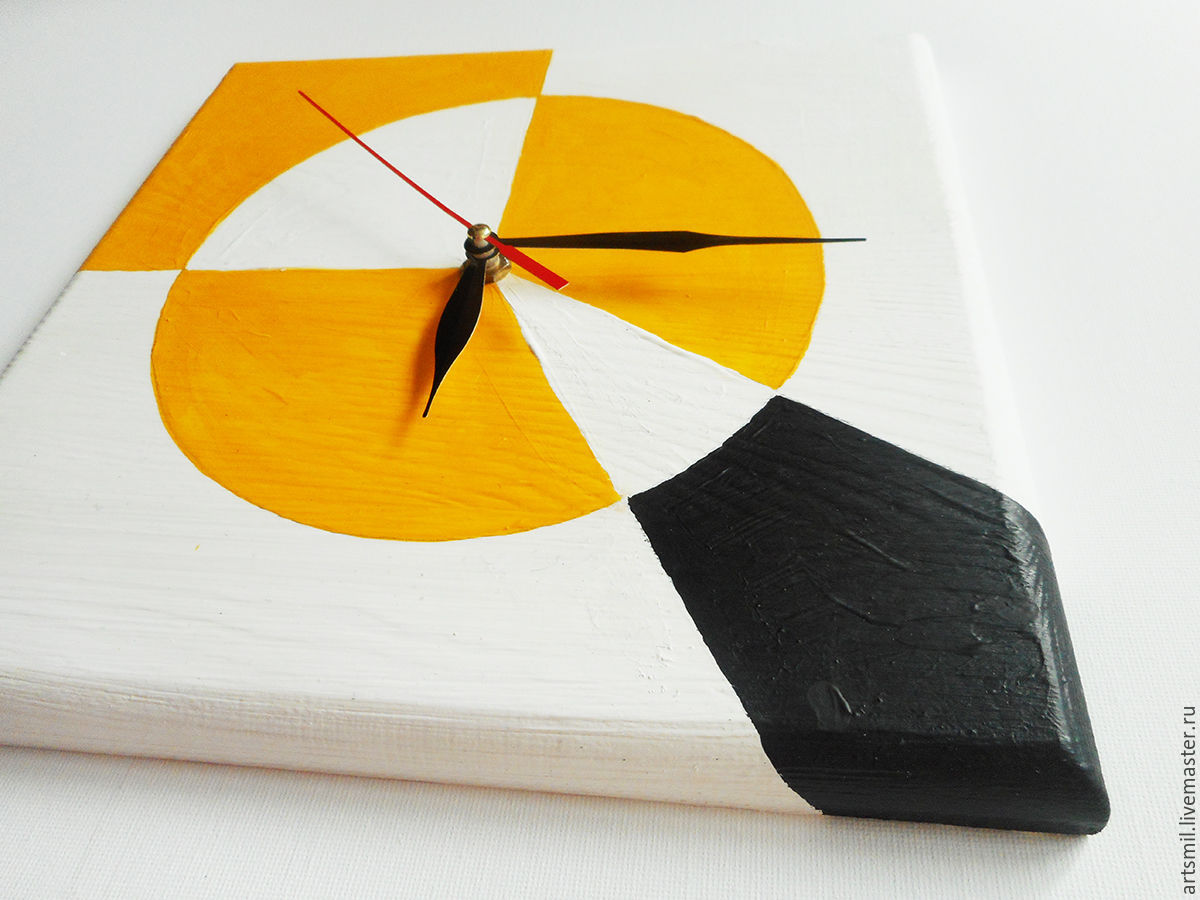 Watch supremo avant garde wall clock hand painted on wood shop avant garde wall clock hand painted amipublicfo Image collections