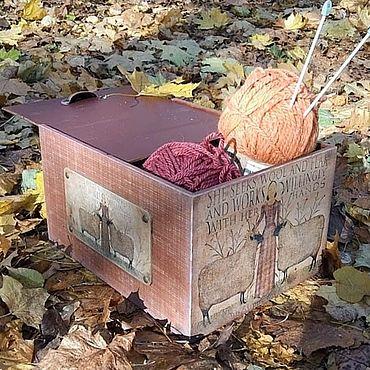 Для дома и интерьера ручной работы. Ярмарка Мастеров - ручная работа Ящик для рукоделия. Handmade.