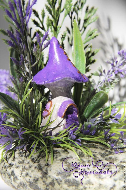 Миниатюрные модели ручной работы. Ярмарка Мастеров - ручная работа. Купить Лавандовый домик. Handmade. Дом, интересный подарок, цветы
