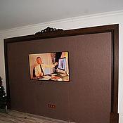 Для дома и интерьера ручной работы. Ярмарка Мастеров - ручная работа Оформление ТВ-рама. Handmade.