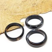 Украшения handmade. Livemaster - original item Ring black agate size 18. Handmade.