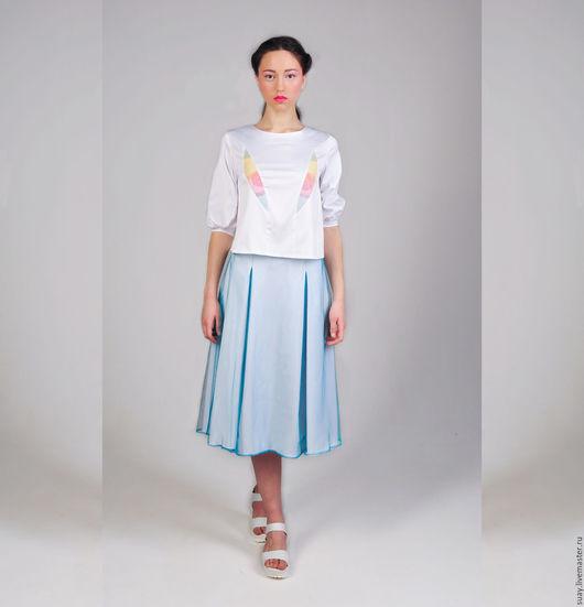 """Юбки ручной работы. Ярмарка Мастеров - ручная работа. Купить Двухслойная юбка с фатином """"Солнечная"""". Handmade. Мятный, молодежный стиль"""